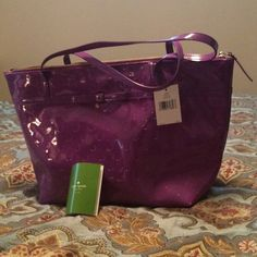 Newly Reduced!! Brand New Kate Spade Sophie Tote Beautiful Med/lg tote in Camilla Street Bajarose (pink purple).   Comes from a smoke-free pet -friendly home.  No trades, PP, or low-ball offers.  Doesn't include a purse protector. kate spade Bags Totes