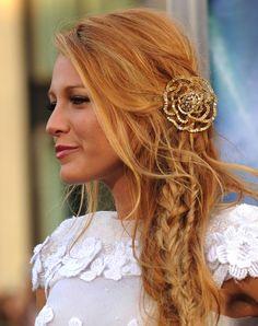 O blog da Maria. Penteados para noivas inspirados em Blake Lively. #casamento #penteados #noivas