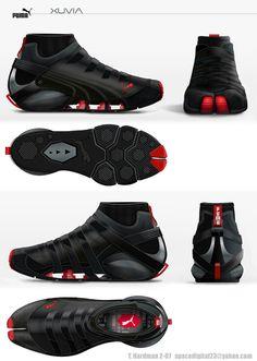 Puma Parkour, Mirror's Edge and Running concept shoe Pumas Shoes, Men's Shoes, Nike Shoes, Shoe Boots, Sports Shoes, Basketball Shoes, Shoe Sketches, Sport Wear, Chuck Taylors