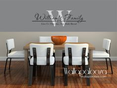 Family Name Monogram  Family Room Wall Decal by WallapaloozaDecals