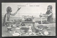 old-indische: Makers of Keris ~ Java Indonesia ca 1910