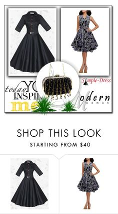 """""""SimpleDress #20"""" by glosaryy ❤ liked on Polyvore featuring vintage"""