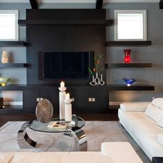 Tv Wall Design Ideas find this pin and more on tv nitesi tv wall fireplace 20 Floating Wall Shelves Design For Inspiration