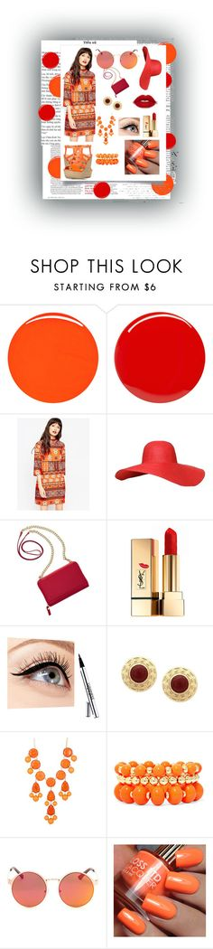 """""""MatchingColors√"""" by moorerkaura ❤ liked on Polyvore featuring beauty, RGB Cosmetics, Yves Saint Laurent, ASOS, TravelSmith, Luminess Air, Natasha Accessories, Mixit, red and MatchingTwoColors"""