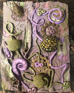 Polymer clay tile
