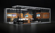 Nef // Dubai Cityscape Exhibition on Behance Kiosk Design, Display Design, Retail Design, Exhibition Stall Design, Exhibition Display, Exhibit Design, Exhibition Stands, Exhibition Ideas, Web Banner Design