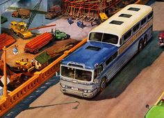 Numerous problems with the Scenicruiser and other frustrations of dealing with a near-monopoly drove Greyhound to buy the Canadian bus builder MCI, and never looked back. Other builders eventually found their footing, and as GM's market share plummeted in the seventies, they lost interest and pulled the plug in 1980.