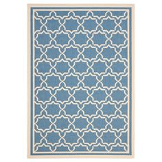 King Rug 6'7x9'6 Blue/Beige now featured on Fab.