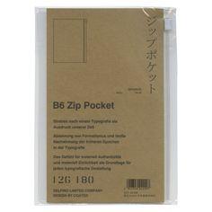 【Coated/コーテッド】B6サイズ対応 ジップポケット/Zip Pocket手帳用のポケットです。レシートや領収証、切符の一時保存に小銭の収納など、ジッパー付きポケットの利用方法は様々あります。手帳のカバー