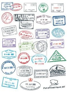 Buy Postage and Passport Stamps by Seyyahil on GraphicRiver. High details vector passport and postage stamps. Like real stamp, rough and cracked. Travel Stamp, Travel Logo, Travel Maps, Passport Travel, Travel Icon, Travel Packing, Passport Template, Passport Stamps, Clipart