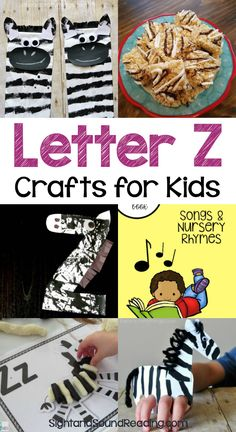 Letter Z Crafts Letter Z Crafts for preschool or kindergarten - Fun, easy and educational! Students will have fun learning and making these fun crafts!