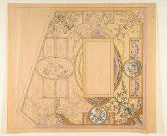 Design for a ceiling decoration Anonymous, French, 19th century