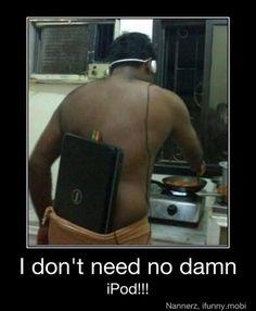 I admire his love of portable music.