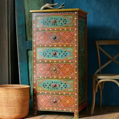 Tila Wooden Dresser ~ Hand-Crafted by artisans in India via www.worldmarket.com #CRAFTBYWORLDMARKET