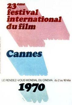 affiche 23 festival de Cannes 1970