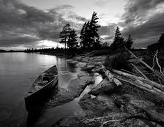 At a small island near Temagami Island. Shot in monochrome with a 2 stop ND grad. Ontario Provincial Parks, Northern Girls, Manitoulin Island, Away We Go, Lake Huron, Canoe Trip, Small Island, Black And White Pictures, Go Camping
