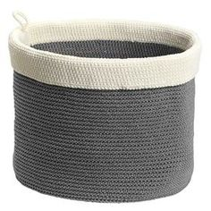 Woven Utility Basket in Gray