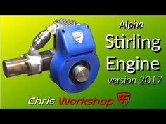 16 Cylinder Gas Powered Stirling Engine - YouTube