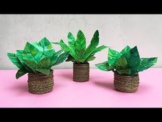 DIY Barbie Plant Pots || Cara Membuat Tanaman Hias untuk Barbie Faux Plants, Potted Plants, Plant Pots, The Creator, Barbie, Miniatures, Diy, Fake Plants, Pot Plants