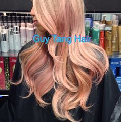 Guy tang Peach coral blonde ombre - obsessed with Guy Tang's Ombre hair color.