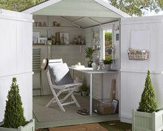 Garden Shed Interiors, Summer House Interiors, Craft Shed, Diy Shed, Studio Hangar, Shiplap Sheds, Shed Office, Studio Shed, Garden Studio