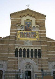 entrance of Church of Santa Maria Antiqua In Testaccio Hill.