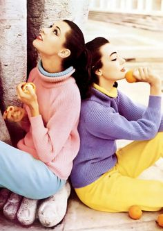 Barbara Mullen & Ivy Nicholson by Henry Clarke for Vogue, 1956. #vintage #1950s #spring #fashion