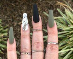 Acrylic Nails Coffin Short, Fall Acrylic Nails, Coffin Nails, Stiletto Nails, Pointed Nails, Glue On Nails, Gel Nails, Diy Ongles, Acylic Nails