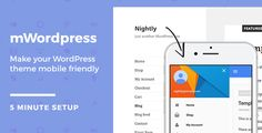 mWordPress - WordPress Mobile Theme by lukepostulka ¨C Do you have a WordPress website that is non responsive? ¨C Do you want to make it mobile friendly but you don¡¯t want to change your theme? ¨CTry Nightly Material, this mWordPress theme. It works as a component to your desktop them