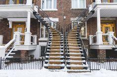 Top 3 des quartiers où flâner à Montréal, escaliers, plateau, canada
