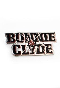 Bonnie & Clyde Lapel Pin Price: $10.00  http://www.broadwaymerchandiseshop.com/view/details/id/524/for/Bonnie_%2B_Clyde_Lapel_Pin