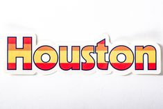 Our hometown H-town sticker is the bomb - we're not even gonna be bashful about this one. Show your Houston pride with this World Series hit. Houston Pride, Houston Astros, Bujo, Stickers, Retro, Prints, Products, Sticker, Decal