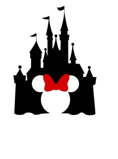 Disney Castle with Minnie Ears Cutout Iron On Heat Transfer Vinyl for Shirts Bags Pillows Fish Disney Diy, Disney Crafts, Disney Trips, Disney Mickey, Silhouette Cameo 4, Machine Silhouette Portrait, Disney Tattoos, Disney Castle Silhouette, Disneyland