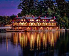hirsh log homes Timber Homes, Log Homes, Cabin In The Woods, Cottage Exterior, Ski Chalet, Boathouse, Red Cedar, Whistler, Custom Homes