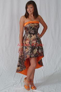 camoflage bridesmaid dress