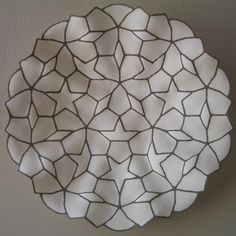 Contemporary South african Ceramics. Very beautiful, especially the way the platter undulates with the pattern. Love it!