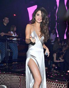 Selena Gomez + slip dress | @itscameronchu                                                                                                                                                                                 More