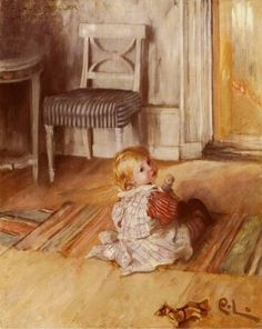 He loved his babies!  Carl Larsson