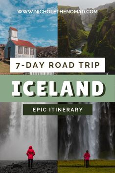 Is Iceland on your bucket list? This is your guide to the ultimate road trip itinerary to see Iceland in 1 week! It has your must-see sights and tips for planning an epic 7-day trip. Get ready for epic views of waterfalls, canyons, and mountains in the land of fire and ice! | iceland road trip | iceland photography | iceland sights | iceland landscape | iceland waterfalls| iceland itinerary Iceland Travel Tips, Iceland Road Trip, Tours In Iceland, Europe Travel Guide, Travel Guides, Travel List, Berlin, Iceland Landscape, Iceland Waterfalls
