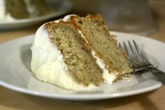 Fruit past it's prime is put to delectable use in basil banana cake.
