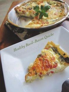 Healthy Basil-Bacon Quiche via @Christine Smythe McCarthy