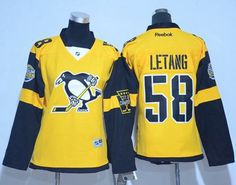 8bc2b01ef69 Penguins  58 Kris Letang Gold 2017 Stadium Series Women s Stitched NHL  Jersey
