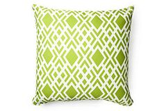 one kings lane Geometric 20x20 Outdoor Pillow, Lime