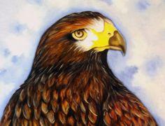 Como Pintar Pássaros - Gavião - (Pintura em Tecido-Parte 2/2)