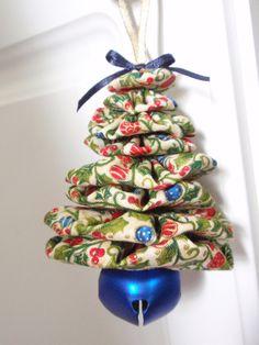 Mini Christmas Ornaments on Cream Print Jingle Bell by SursyShop, $6.00
