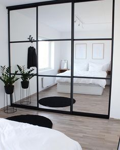 Tag Your Friends Who'd Love This Design! Swipe left to see more … 📍Interior Goals? Tag Your Friends Who'd Love This Design! Swipe left to see more from this beautiful cosy house design by in Norway . Small Bedroom Wardrobe, Closet Bedroom, Room Decor Bedroom, Home Bedroom, Master Closet, Modern Bedroom, Master Bedroom, Mirrored Wardrobe Doors, Sliding Wardrobe Doors