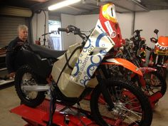 The Rebirth of the KTM single cylinder adventure bike - The Dalby Moto inspired KTM700RR adventure.