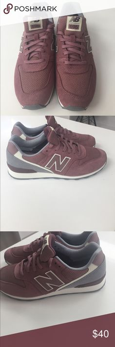 Brand new New Balance 696 sneakers in size 9 New Balance running sneakers in mauve.  BRAND NEW NEVER WORN.  Suede plus mesh material .  The mesh material has a very slight rose gold thread running through it . New Balance Shoes Sneakers
