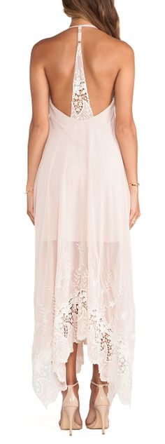 Blush embroidered maxi