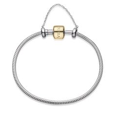 29f441d28c9 Pulseira Life com corrente de segurança em prata 925 e ouro amarelo 18k -  18 cm - Vivara
